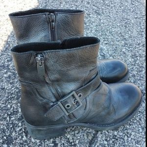 Eric Michael Sz 6.5 37 Mid Calf Boots Leather Moto